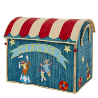 Large Circus Raffia Toy Storage Basket Rice DK